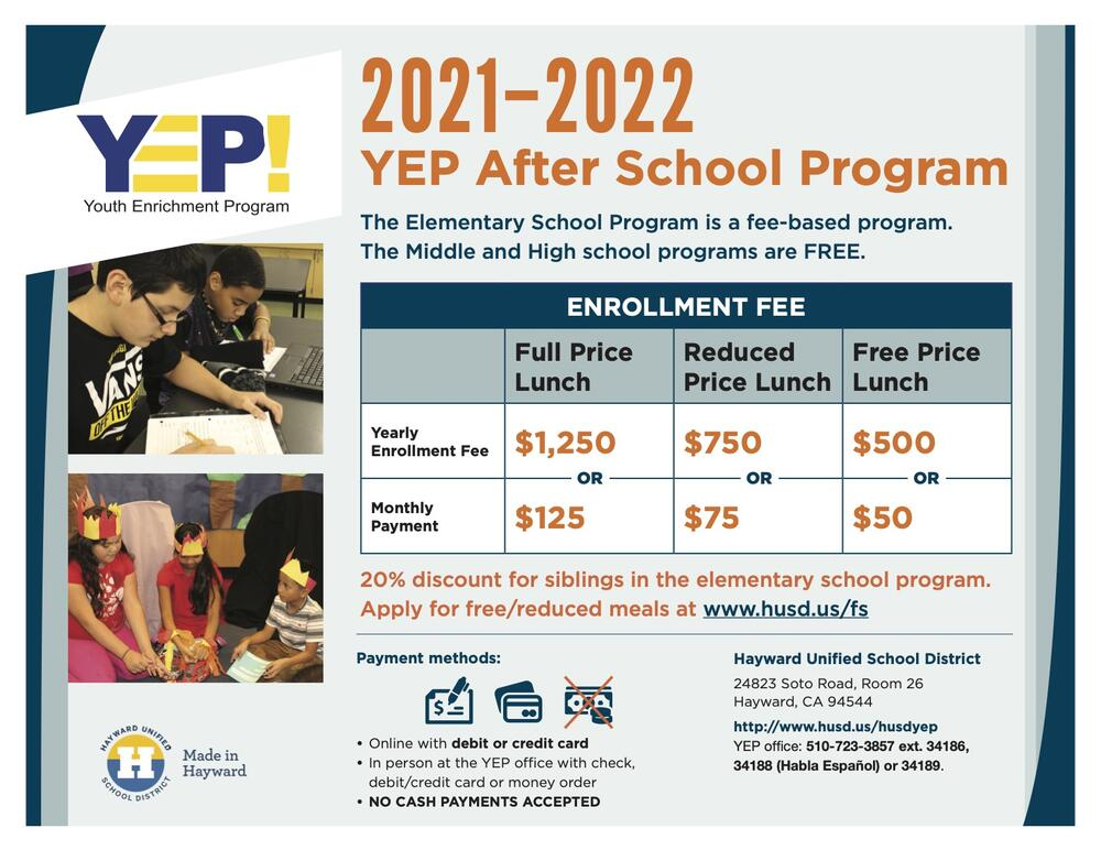 Enrollment Fees Flyer