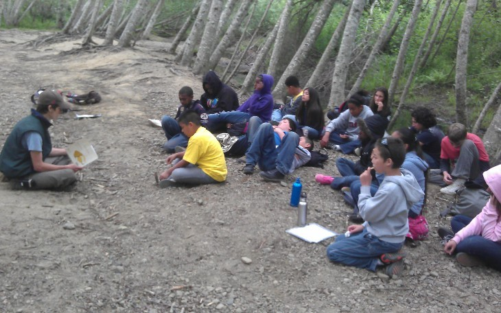 East Avenue 6th grade students at Walker Creek Science Camp